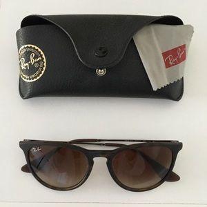 "Erika ""ray-ban"" brown sunglasses"